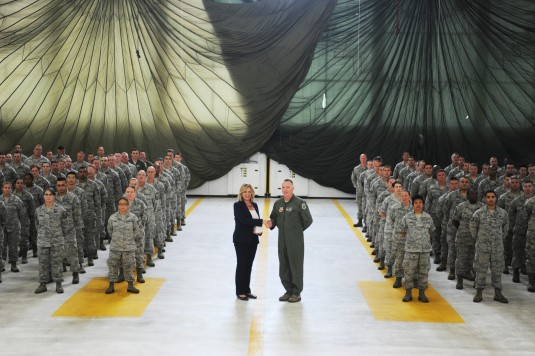 Air Force Secretary Visits 106th Rescue Wing