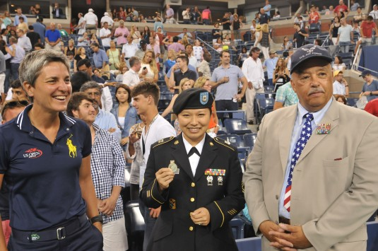 Army Guard Soldier Recognized at Tennis Match