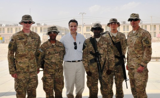 Governor Meets Troops in Afghanistan