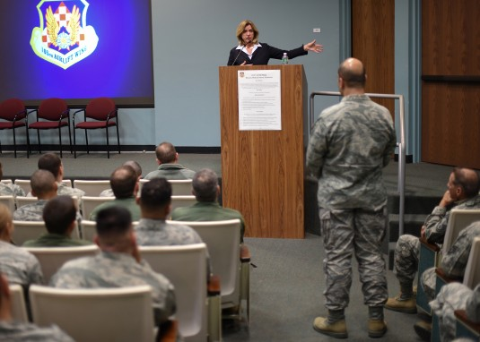 Air Force Secretary Visits 105th Airlift Wing