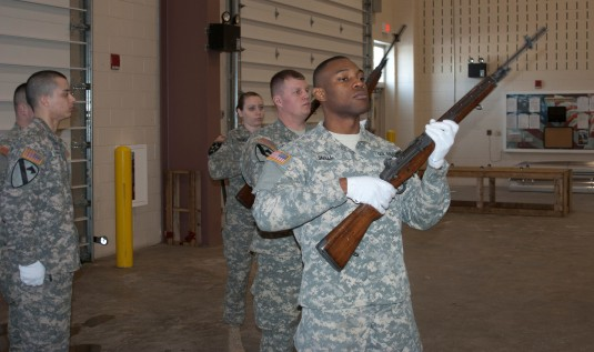 Honor Guard Training at Camp Smith
