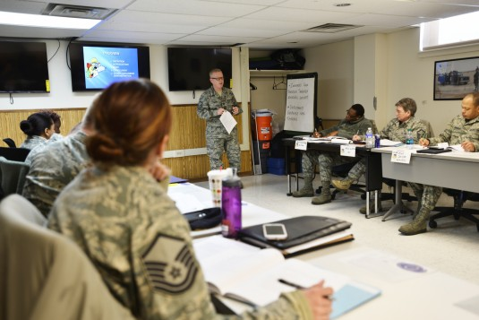 The New York Air National Guard's  107th Airlift Wing hosted an Instructor Certification Program for military education instructors  the week of March 2-6 with 16 Guardsmen attending in order to become facilitators for  courses.