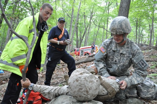 Soldiers, Civilian responders train at Camp Smith