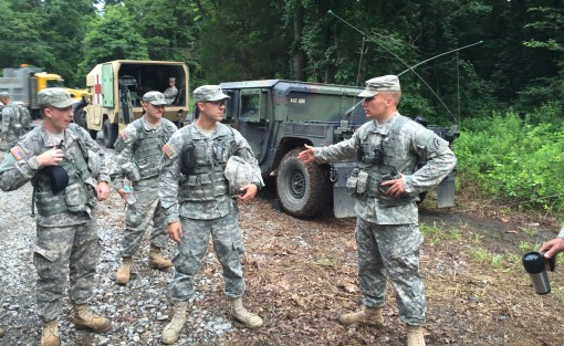 Aviation supporters training at Indiantown Gap