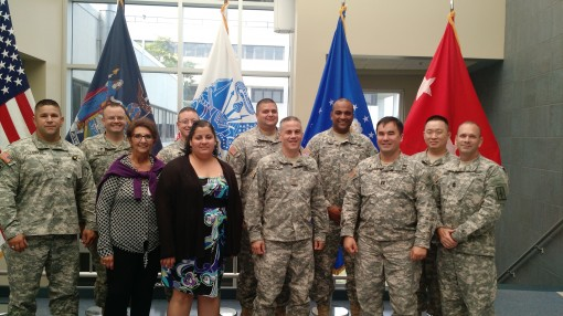 New York Army National Guard Chaplains and members of the National Guard's  Psychological Health and Suicide Prevention Program pose for a photograph during an August 18, 2015  workshop to discuss trends, resources and intervention tools.  The worksh