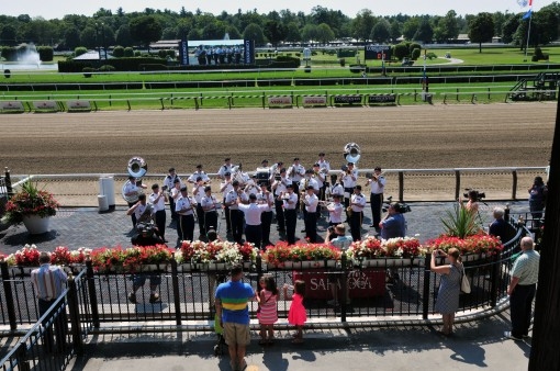 42nd Band playing at Saratoga