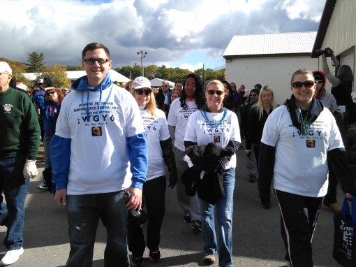 Volunteers support the American Foundation for Suicide Prevention by participating in the 11th annual Capital Region Out of the Darkness Walk
