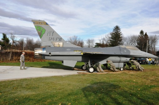 Jet on Display at State Headquarters