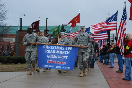 Community March to Honored Deployed Troops