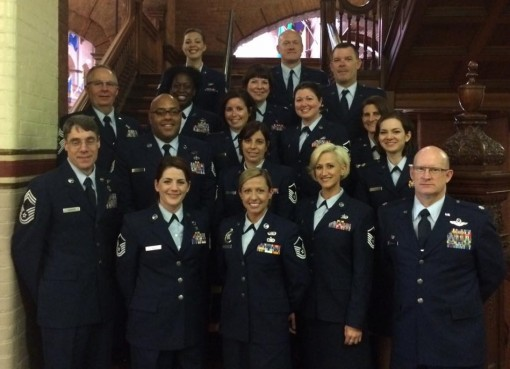 107th Airlift Wing Members at Armed Forces Lunch