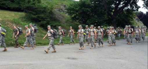 Camp Smith, NY  Soldiers from Operations Company   of the 42nd Infandty Division Headquarters Battalion conduct a road march during the 42nd ID annual training on Thursday, June 16, 2016.