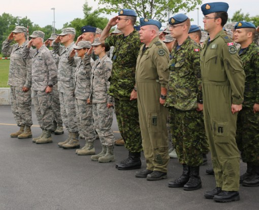 --New York Air National Guardsmen and Canadian Forces members