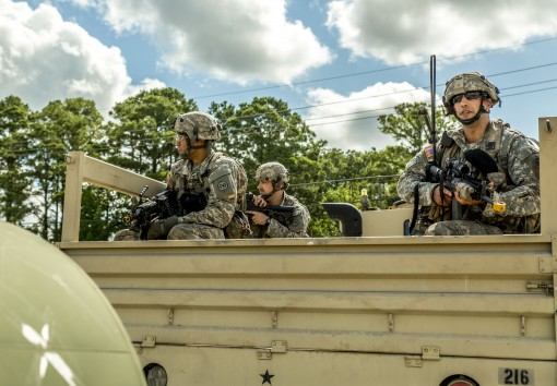 Soldiers assigned to the 1st Battalion 69th Infantry, a part of the 27th Infantry Brigade Combat Team prepare to depart for a field exercise at the Armys Joint Readiness Training Center Fort Polk La. on July 17 2016.More than 5000 Soldiers from state Army