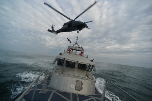 106th Rescue Wing trains with Coast Guard