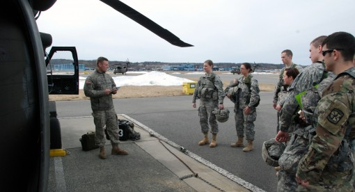 ROTC Cadets get a lift from NY Army Guard