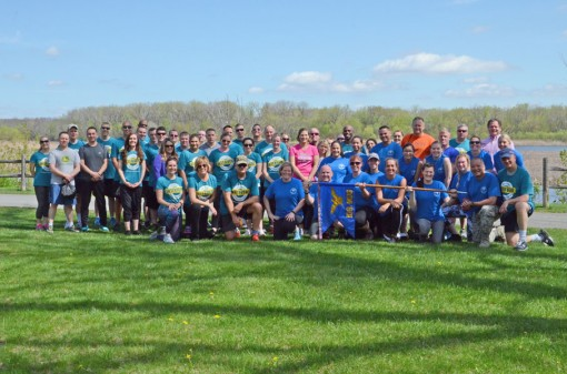 NISKAYUNA-- Members of the 109th Airlift Wing and Division of Military and Naval Affairs Headquarters who participated in a Sexual Assault Awareness Run/Walk at Lions Park in Niskayuna on April 28.