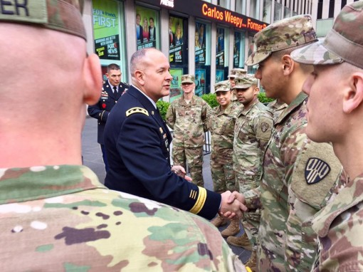 ARNG Director greets NY Guard Soldiers