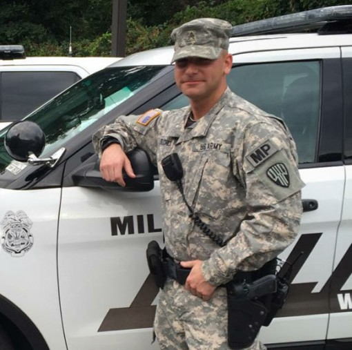 New York Army National Guard Sgt. Joseph Selchick, a military police Soldier with the National Guards 727th Military Police Law and Order Detachment, applied his military skills and experience to graduate from the Rockland County Police and Public Safety