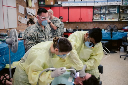 Members of the 107th Medical Group support Innovative Readiness Training with dental exams