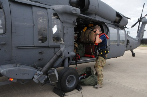 106th personnel conduct missions near Houston