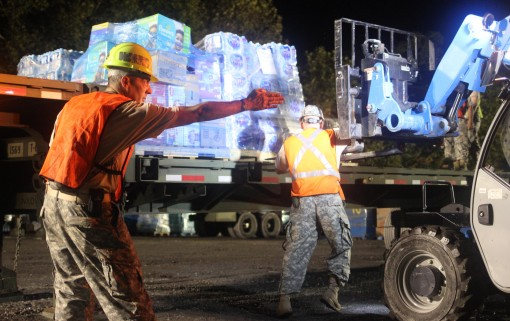NY state defense force helps with donated supplies
