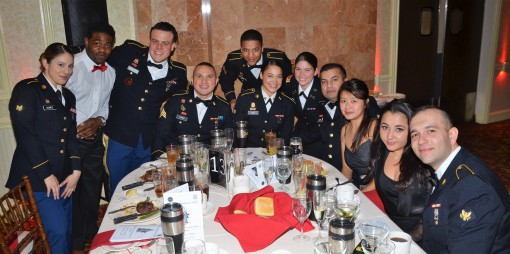 Members of the 1st Battalion 258th Field Artillery gathered for the battalion's annual St. Barbara's Ball here on Dec. 8, 2017. St. Barbara is the patron saint of artillerymen and the battalion honored outstanding Soldiers, leaders and family me