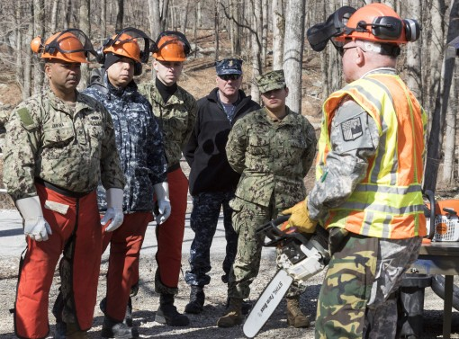 Chainsaw Training At Camp Smith