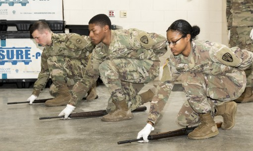 Honor Guard Soldiers train at Camp Smith