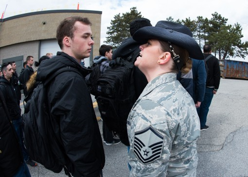 Recruits train at Stewart Air Base