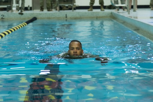 Soldier Swimming Skills Tested