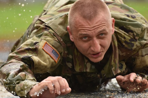 Soldier prepares for competition
