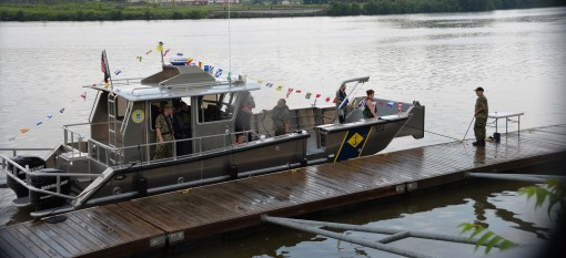 Naval Militia christens newest boat
