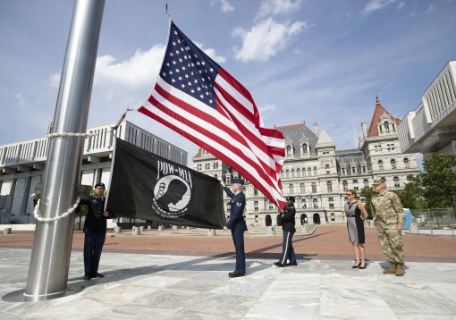 Guard raises POW/MIA flag to honor Sen. McCain