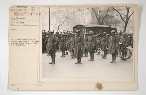 369th Welcomed Home with Massive Parade in 1919