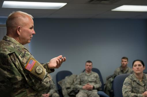 Ajutant General visits Airmen on storm duty