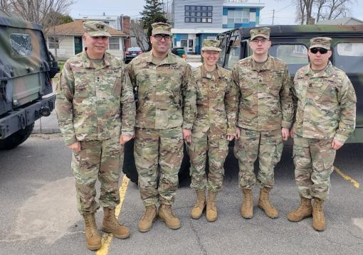 Rochester Guard Soldiers ready for flooding