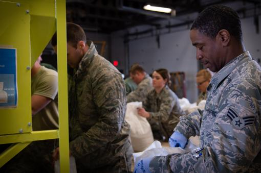 107th Airmen work to stop flooding