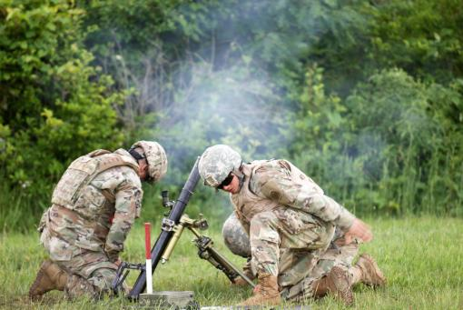 69th Infantry mortar Soldiers hone skills