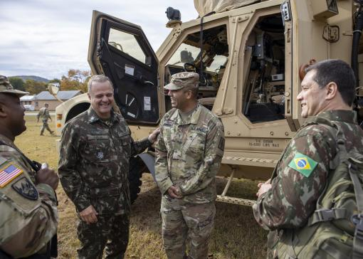 Brazilian General visits New York National Guard