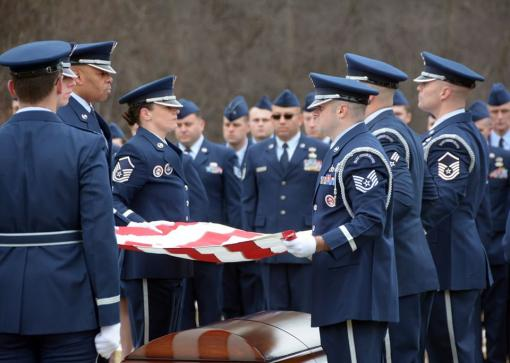 Airman honored at funeral