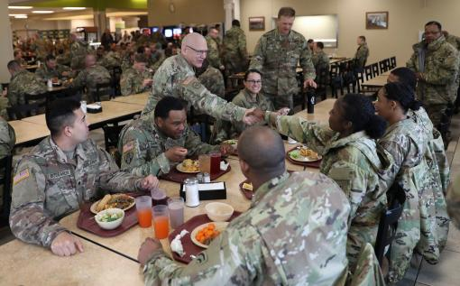 Sgt. Major visits 42nd Infantry Division troops