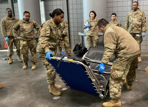 Soldiers Set up Javits Center
