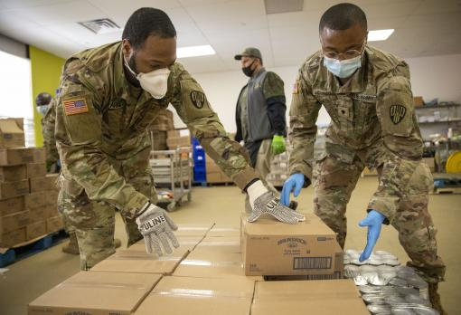 Soldiers feeding Westchester County