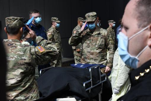 Deceased Veteran honored at Javits Medical Station