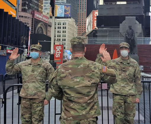 2-108th Soldiers reup in Manhattan