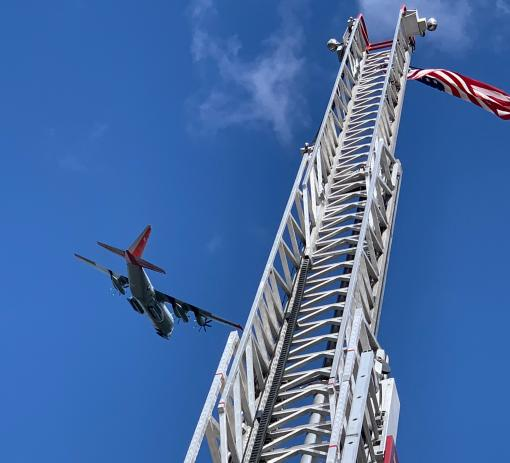 109th Airlift Wing Flyover salutes region