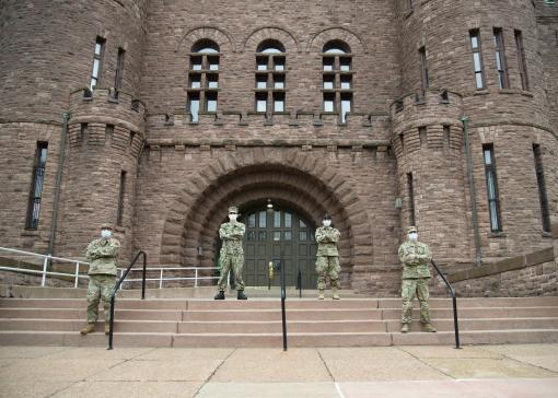 NY Military Forces members on duty in Buffalo