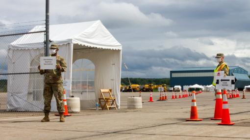 Guard Soldiers manage COVID testing