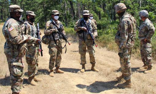 Soldiers train on Long Island