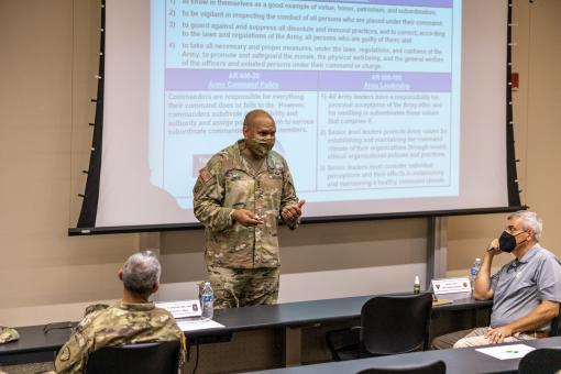 Top IG Officer visits Camp Smith
